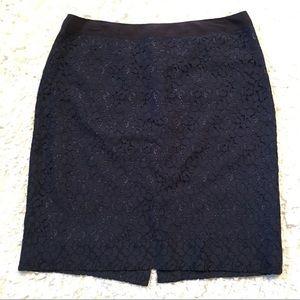 NWT JCrew lace floral pencil skirt